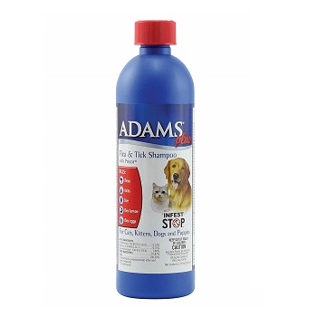 Adams Plus Flea and Tick Shampoo for Dogs and Cats