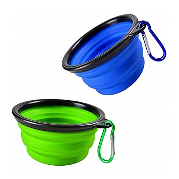 COMSUN Collapsible Cat Bowl for Travel and Hiking
