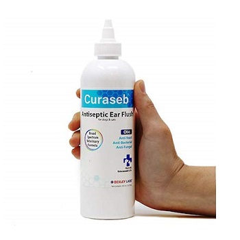 Curaseb Antiseptic Ear Flush for Cat Ear Infection