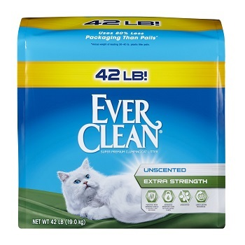 Ever Clean Extra Strength Unscented Odor Eliminating Cat Litter