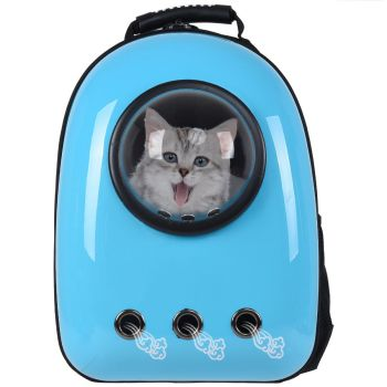 backpack with transparent dome for cat
