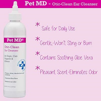 Pet MD Otic Clean Ear Cleanser for Cats