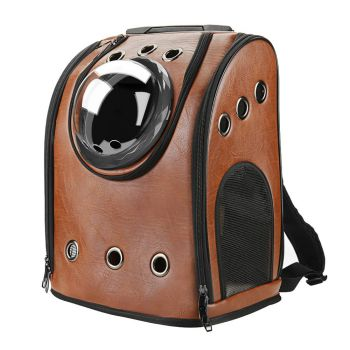 leather backpack for cats