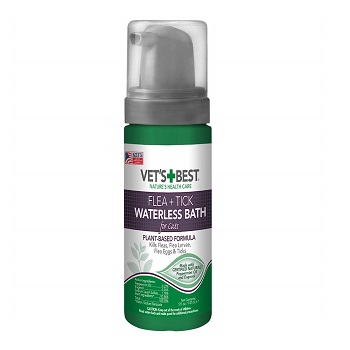 Vet's Best Flea & Tick Waterless Bath for Cats