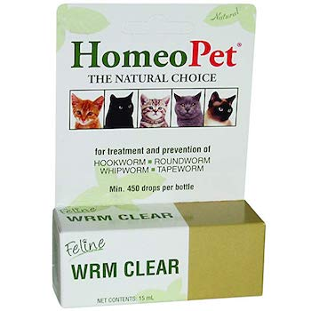 HomeoPet WRM Clear Natural Dewormer