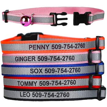Personalized Reflective Cat Collars