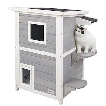 Petsfit 2-Story Outdoor Weatherproof Cat House