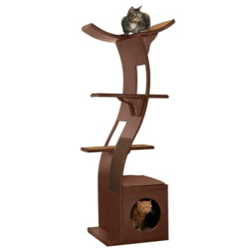 The Refined Feline Lotus Luxury and Designer Cat Tower