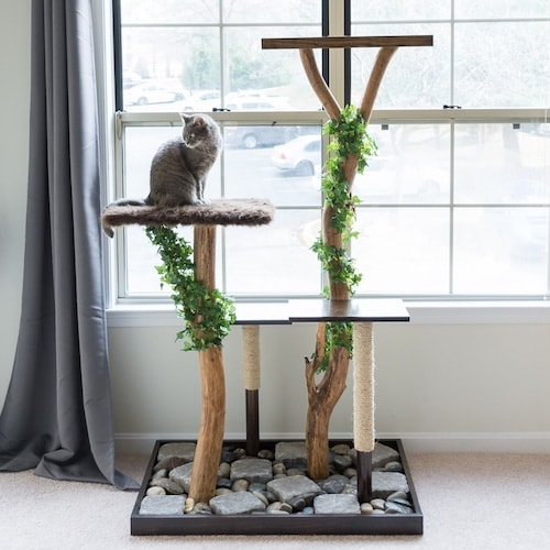 Cat Tree From Natural Branches DIY