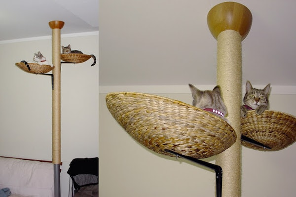 Plan for Kitty Tree of PVC Pipes and Baskets