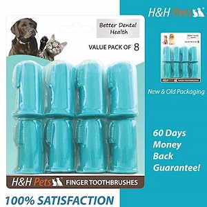 H&H Pets Finger Toothbrush for Cats 8 Pack & 4 Pack