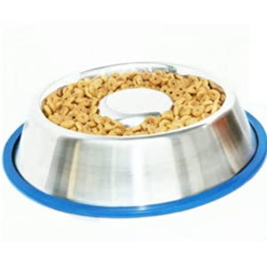 Mr. Peanut's Stainless Steel Interactive Slow Feed Bowl