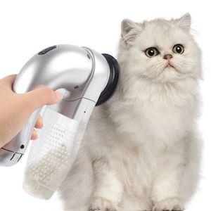 Vacuuming cat hair